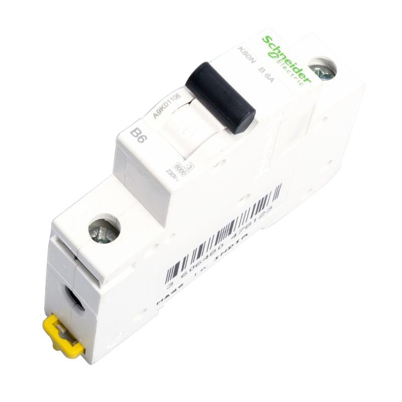 Wylaczniki-nadpradowe-bezpieczniki - wyłącznik nadprądowy a9k01106 1p b 6a schneider firmy Schneider Electric