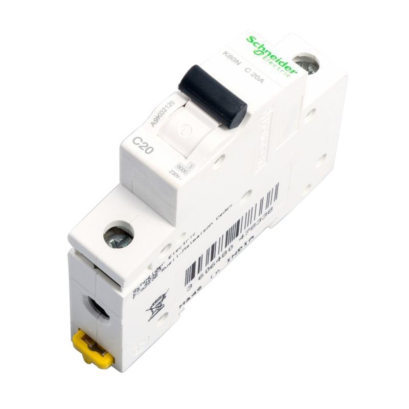 Wylaczniki-nadpradowe-bezpieczniki - wyłącznik nadprądowy a9k02120  1p c 20a schneider firmy Schneider Electric