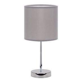 Szara lampka na chromowanej...