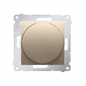 Regulatory-oswietlenia - ściemniacz do led naciskowo-obrotowy złoty mat w układzie schodowym ds9l.01/44 kontakt-simon