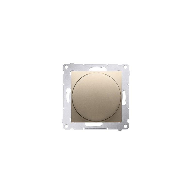 Regulatory-oswietlenia - ściemniacz do led naciskowo-obrotowy złoty mat w układzie schodowym ds9l.01/44 kontakt-simon firmy Kontakt-Simon
