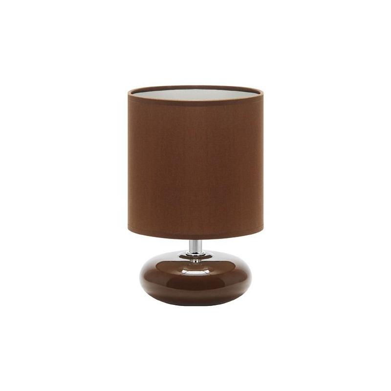 Lampki-nocne - mała brązowa lampka na stolik nocny pati e14 brown 03145 ideus firmy IDEUS