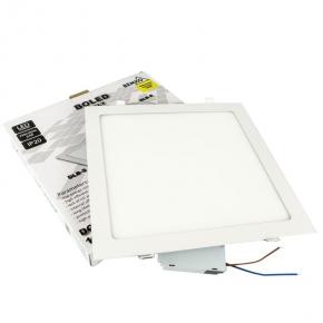 Panele-led - świecący mały panel kwadratowy bemko led 24w  biały c70-dlb-s-240-4k