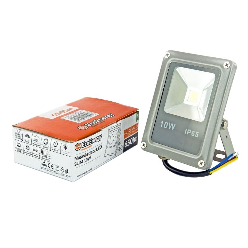 Naswietlacze-led-10w - naświetlacz led 10w szary ee-09-sc010-6g slim 650lm 6000k zimny ecoenergy firmy EcoEnergy