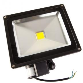 Naswietlacze-z-czujnikiem-ruchu - naświetlacz czarny z czujnikiem ruchu 30w 1800-2200 lm 3000k economy line forever light