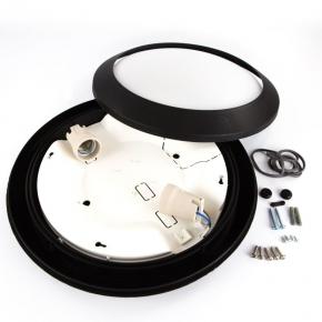 Plafony - oprawa umberta 2xe27 ip66 fi 350mm czarna fumagalli