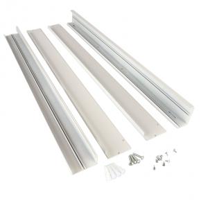 Panele-led - ramka biała do montażu natynkowego panelu led slim 60x60 ee-17-smk-frame ecoenergy