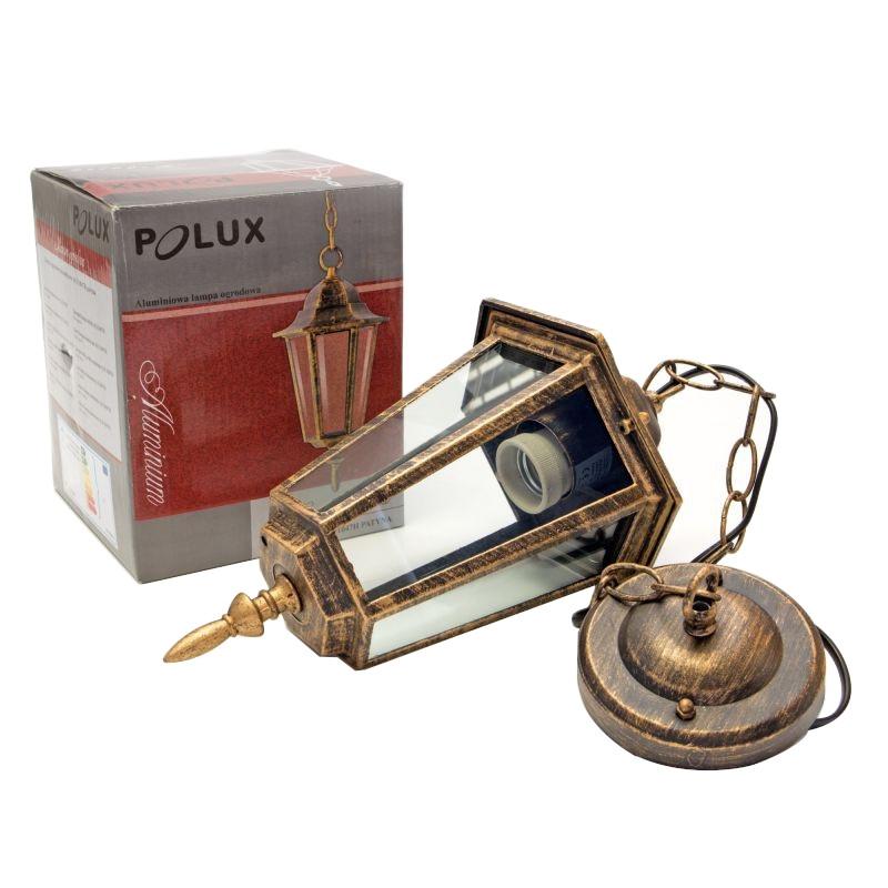 Lampy-ogrodowe-wiszace - lampa ogrodowa wisząca patyna alu1047h liguria polux firmy POLUX