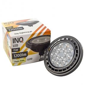 Gwint-trzonek-gu10 - lampa led z gwintem gu10 15w 1200lm 36° 3000k ciepła ar220ww inq