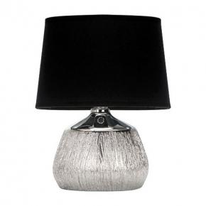Lampki-nocne - lampka stołowa czarno-srebrna w stylu glamour jagoda e14 chrome/black 03292 ideus