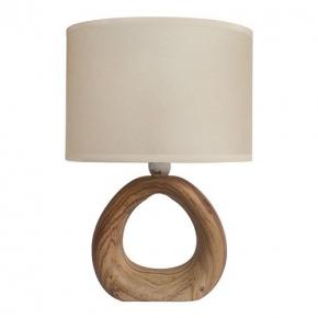 Kremowa lampka stołowa w...