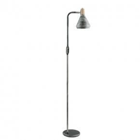 Czarna lampa podłogowa w...
