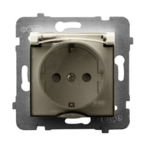 Gniazdo bryzgoszczelne z uziemieniem schuko ECRU GPH-1US/m/27/d ARIA OSPEL