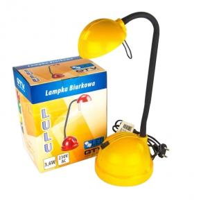 Żółta lampka biurkowa...