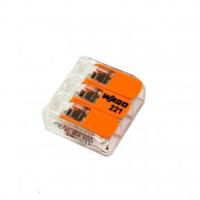 Szybkozlaczki - złączka uniwersalna 3x 0,5-6mm2 z dźwigniami 221-613 wago
