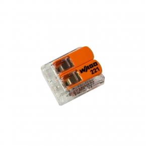 Szybkozlaczki - złączka uniwersalna 2x 0,5-6mm2 z dźwigniami 221-612 wago