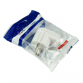 Przedluzacze-elektryczne - wtyczka kątowa rozbieralna biała 16a 250v wt-16b plastrol