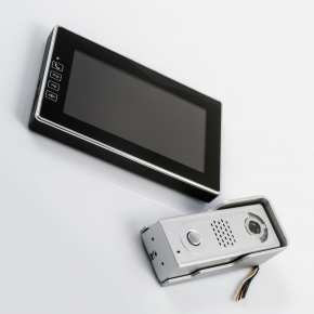 Wideodomofony - wideodomofon kolor z pamięcią h1018 emos