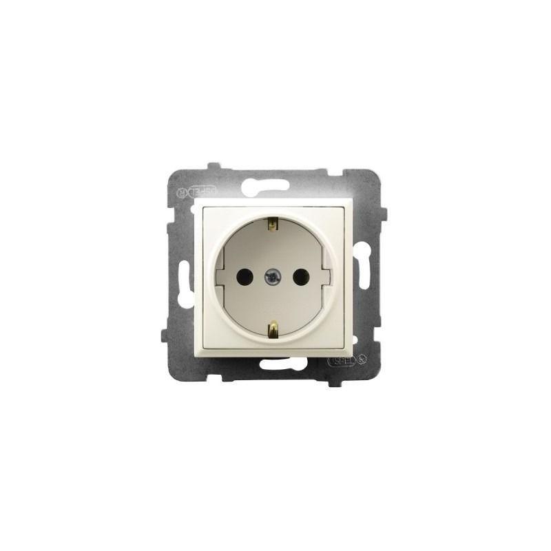 Gniazda-pojedyncze-podtynkowe - gniazdo pojedyncze z uziemieniem schuko ecru gp-1us/m/27 aria ospel firmy OSPEL