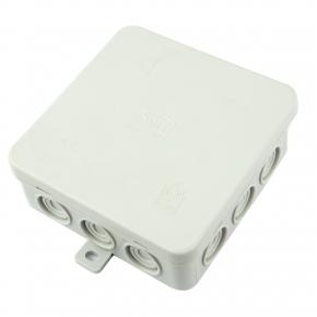 Puszki-natynkowe - puszka naścienna szara ip54 100x100x38mm n7 simet