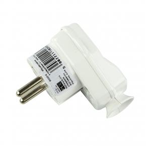 Przedluzacze-elektryczne - wtyczka kątowa z wyłącznikiem i diodą biała 10/16a 9002216 pce