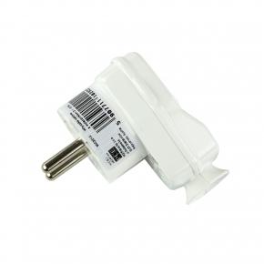 Przedluzacze-elektryczne - wtyczka kątowa z wyłącznikiem biała 16/250v 9002215 pce