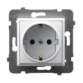 Gniazdo pojedyncze z uziemieniem Schuko białe GP-1US/m/00 ARIA OSPEL
