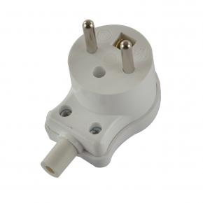 Przedluzacze-elektryczne - wtyczka kątowa z uziemieniem biała skręcana 16a 250v wk-1z karlik