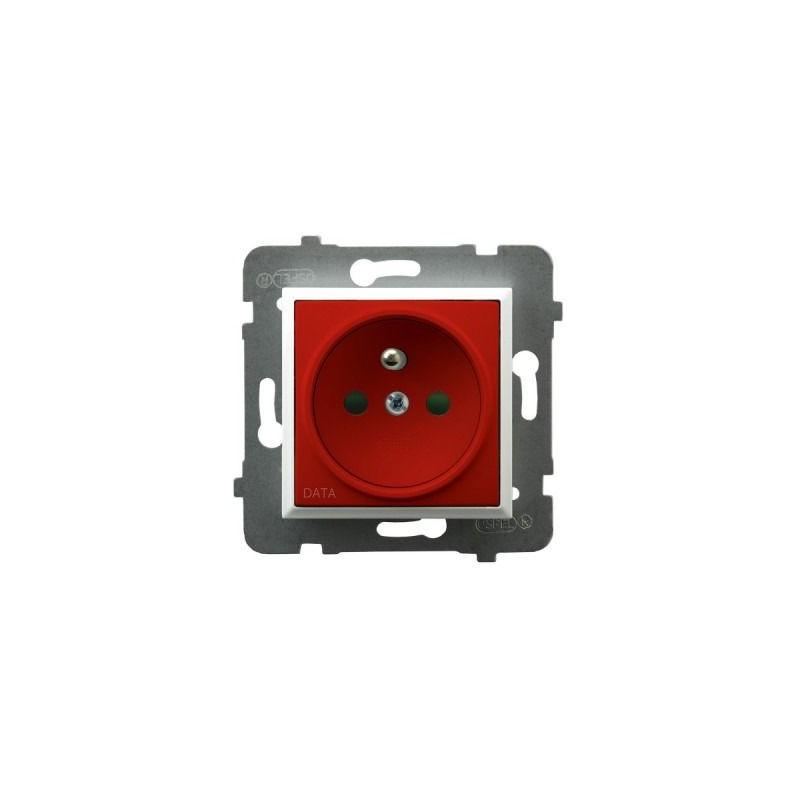 Gniazda-pojedyncze-podtynkowe - gniazdo pojedyncze z uziemieniem data i przesłonami torów prądowych białe gp-1uzdp/m/00/22 aria ospel firmy OSPEL