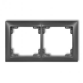 Ramki-podwojne - ramka podwójna grafitowa 11drso-2 deco soft karlik