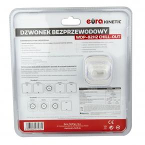 Dzwonki-do-drzwi-bezprzewodowe - dzwonek bezprzewodowy z przyciskiem kinetycznym biały wdp-82h2 chill-out eura kinetic