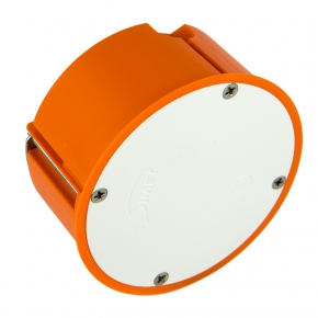 Puszki-podtynkowe - puszka podtynkowa do pustych ścian pomarańczowa p-80f simet