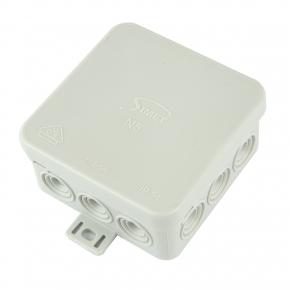 Puszki-natynkowe - puszka natynkowa szara ip54 z dławicą zintegrowaną 75x75mm n5 fastbox simet
