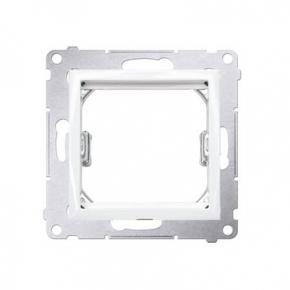 Biały adapter przejściówka na osprzęt standardu 45×45 mm DA45.01/11 Simon 54 Kontakt-Simon