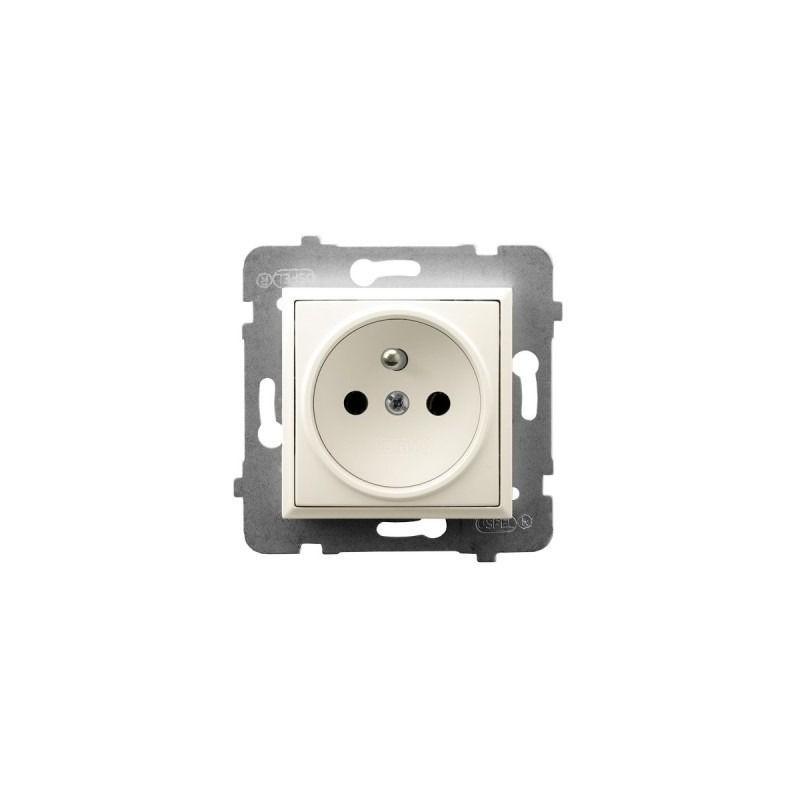 Gniazda-pojedyncze-podtynkowe - gniazdo pojedyncze z uziemieniem ecru gp-1uz/m/27 aria ospel firmy OSPEL