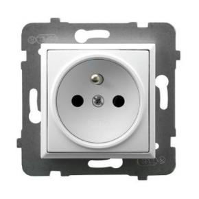 Gniazdo pojedyncze z uziemieniem białe GP-1UZ/m/00 ARIA OSPEL