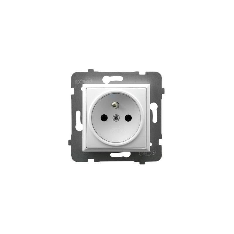 Gniazda-pojedyncze-podtynkowe - gniazdo pojedyncze z uziemieniem białe gp-1uz/m/00 aria ospel firmy OSPEL