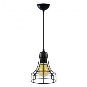 Oswietlenie-sufitowe - lampa druciana wisząca loftowa czarna industrial arhus il mio polux