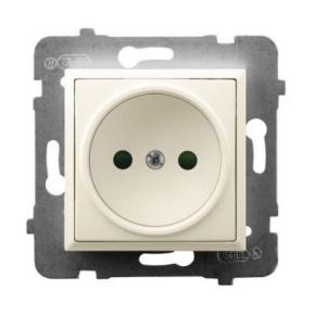 Gniazdo pojedyncze z przesłonami torów prądowych ECRU GP-1UP/m/27 ARIA OSPEL