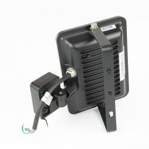 Naswietlacze-z-czujnikiem-ruchu - naświetlacz led 20w z czujnikiem ruchu czarny 1750-1800lm ip65 6000k c65-s-lfs-020bl-6k lofot bemko