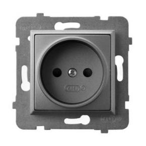 Gniazdo pojedyncze szary mat GP-1U/m/70 ARIA OSPEL