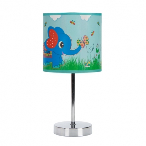 Oswietlenie-do-pokoju-dzieciecego - niebieska lampka do pokoju niemowlaka nuka e14 blue 03649 ideus