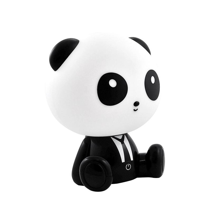 Oswietlenie-do-pokoju-dzieciecego - lampka nocna dla dzieci panda led 2,5w czarno-biała polux firmy POLUX