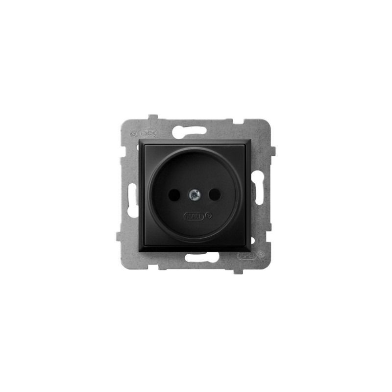 Gniazda-pojedyncze-podtynkowe - gniazdo pojedyncze podtynkowe czarny metalik gp-1u/m/33 aria ospel firmy OSPEL