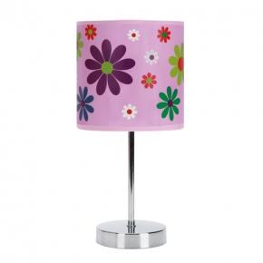 Oswietlenie-do-pokoju-dzieciecego - różowa lampka w kwiaty nuka e14 pink 03651 ideus