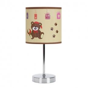 Oswietlenie-do-pokoju-dzieciecego - brązowa lampka w misie nuka e14 brown 03650 ideus