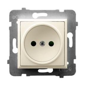 Pojedyncze gniazdo podtynkowe ECRU GP-1U/m/27 ARIA OSPEL