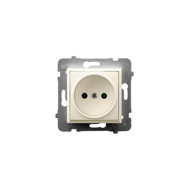 Gniazda-pojedyncze-podtynkowe - pojedyncze gniazdo podtynkowe ecru gp-1u/m/27 aria ospel firmy OSPEL