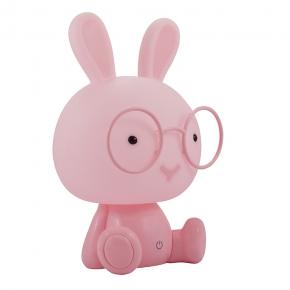 Oswietlenie-do-pokoju-dzieciecego - lampka nocna polux królik led 2,5w różowa