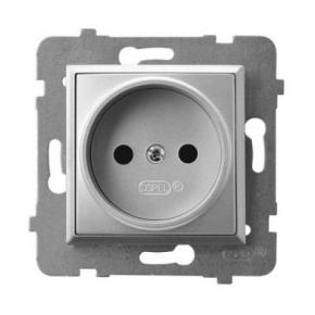 Gniazdo pojedyncze srebrne GP-1U/m/18 ARIA OSPEL